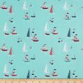 Riley Blake Seaside Boats Aqua