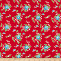 Seaside Floral Red