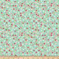Riley Blake Vintage Adventure Tiny Floral Aqua