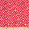 Penny Rose Floral Hues Lawn Chevron Red