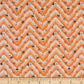 Penny Rose Floral Hues Lawn Chevron Yellow
