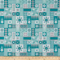 Riley Blake Hello Lovely Geometric Quilt Aqua