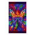 "Timeless Treasures Digital Awaken Abstract Butterfly 24"" Panel Bright"