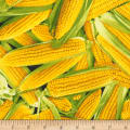 Timeless Treasures Veggie Bowl Corn Yellow