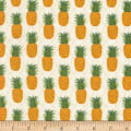 Timeless Treasures Miami Tropic Pineapples Cream