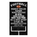 "Timeless Treasures Football Family Rules 24"" Panel Black"