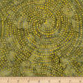 Timeless Treasures Tonga Batik Color Wheel Forest Dotty Spiral Dijon
