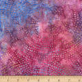 Timeless Treasures Tonga Batik Color Wheel Plume Dotty Spiral Pansy
