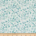 Art Gallery Fabrics Patio Garden Green Thumb Light Blue