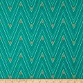 Art Gallery Autumn Vibes Collar Ends Rainforest Teal
