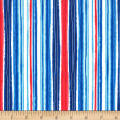 Michael Miller Fiveloaves Twofish Just Shellin' Cabana Stripe Cabana