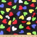 Telio Playtime Cotton Poplin Hearts Black
