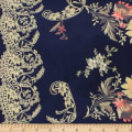 Telio Robin Polyester Faile Border Print Midnight Blue