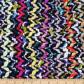 Telio Kaleidoscope Poly Acrylic Tweed  Zig Zag Black Multi