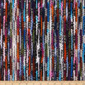 Telio Kaleidoscope Poly Acrylic Tweed Stripe Black Teal Pink
