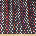 Telio Kaleidoscope Poly Acrylic Tweed Stripe Black Multi