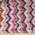 Telio Kaleidoscope Poly Acrylic Tweed Zig Zag Multi