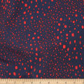 Telio Colorado Poly Faille Abstract Dots Navy/Red