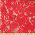 Telio Flora Corded Cotton Nylon Lace Floral Red