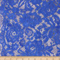 Telio Flora Corded Cotton Nylon Lace Floral Royal