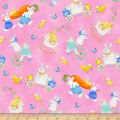 Henry Glass Easter Parade Bunnies & Chicks Allover Pink