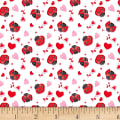 Henry Glass Love Struck Ladybugs & Hearts White/Red