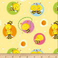 Henry Glass Busy Bees Bees In Circles Yellow
