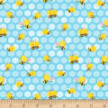 Henry Glass Busy Bees Small Honeycomb Bees Blue