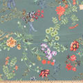 Preview Textiles Bright Flowers Crepe Georgette Floral Green