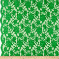 Chantilly Lingerie Lace Double Border Green