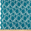 Chantilly Lingerie Lace Double Border Teal