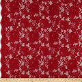 Heavy Corded Chantilly Lace Red