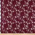 Heavy Corded Chantilly Lace Burgundy