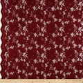Heavy Corded Chantilly Lace Garnet