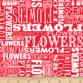 Shannon Christensen Cottage Joy Flower Word Red
