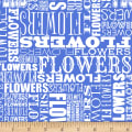 Shannon Christensen Cottage Joy Flower Word Blue