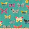 Carrie Bloomston Wonder Newspaper Butterflies Aqua