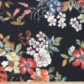 Preview Textiles Pollinated Roses Crepe Floral Black