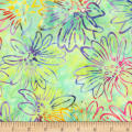 Kaufman Bright Blooms Artisan Batiks Mint
