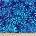 Kaufman Bright Blooms Artisan Batiks Blue
