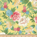 Laura Berringer Ki-Coo Gardens Asian Inspired Floral Yellow