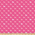 Riley Blake Derby Day Horses Jersey Knit Pink