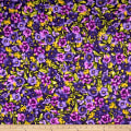 Maywood Studio Emma's Garden Packed Pansies Dark Purple