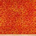 Maywood Studio Mango Tango Batiks Daisies Yellow Orange