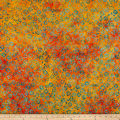 Maywood Studio Mango Tango Batiks Daisies Orange Teal