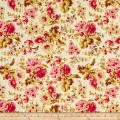Wilmington Barcolage Large Floral Ivory