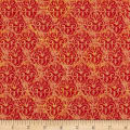Wilmington Blossom and Bloom Nouveau Damask Orange