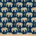 Wilmington Bohemian Dreams Elephants Navy