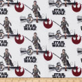 Star Wars Rey and BB8 Flannel White