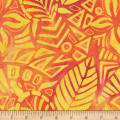 Anthology Fabrics  Art Inspired Music of the Woods Jungle Leaf Papaya